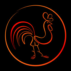 rooster-fire
